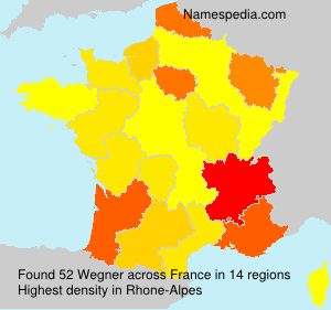 Surname Wegner in France