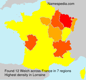 Surname Weich in France