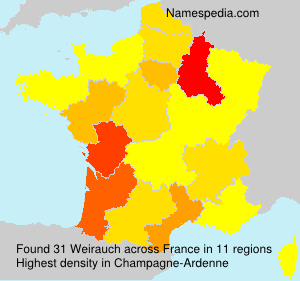 Surname Weirauch in France