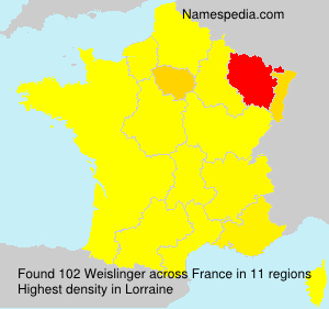 Surname Weislinger in France
