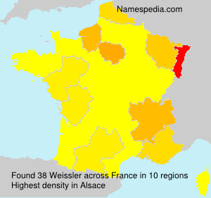 Surname Weissler in France