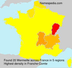 Surname Wermeille in France