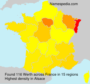 Surname Werth in France