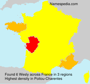 Surname Wesly in France