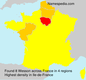Surname Wesson in France