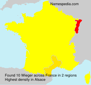 Surname Wieger in France