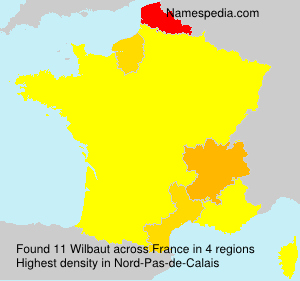 Surname Wilbaut in France