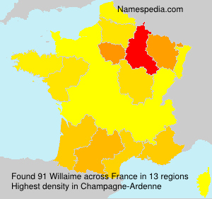 Surname Willaime in France