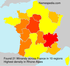 Surname Winandy in France