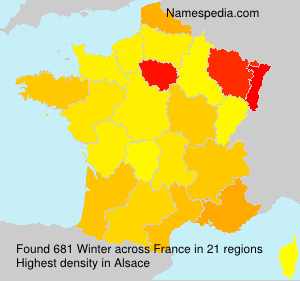 Surname Winter in France