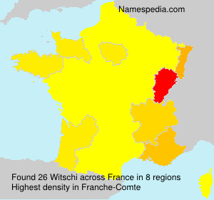 Surname Witschi in France