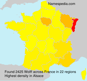 Surname Wolff in France