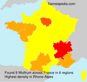 Surname Wolfrum in France