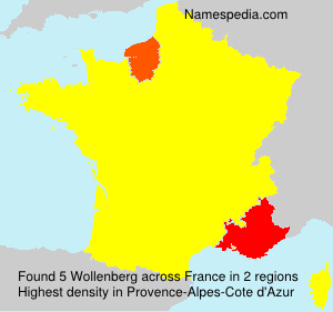 Surname Wollenberg in France