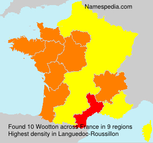 Surname Wootton in France