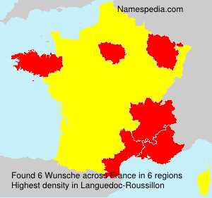 Surname Wunsche in France