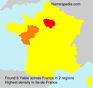 Surname Yabie in France