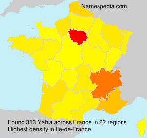Surname Yahia in France