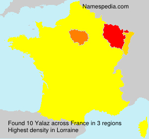 Surname Yalaz in France