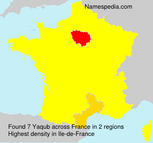 Surname Yaqub in France