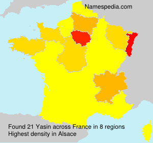 Surname Yasin in France