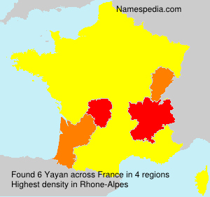 Surname Yayan in France