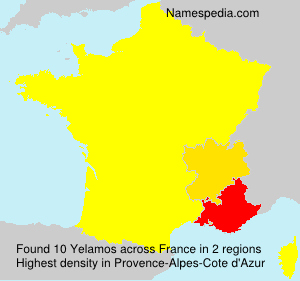 Surname Yelamos in France
