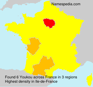 Surname Youkou in France