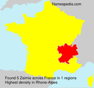 Surname Zaimia in France