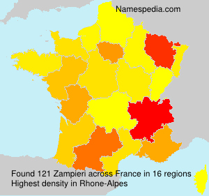 Surname Zampieri in France