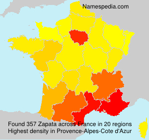 Surname Zapata in France