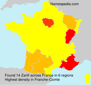 Surname Zarifi in France