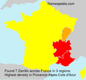 Surname Zarrillo in France