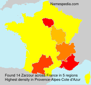 Surname Zarzour in France