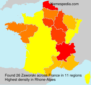 Surname Zaworski in France