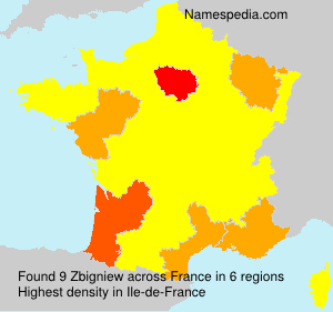 Surname Zbigniew in France