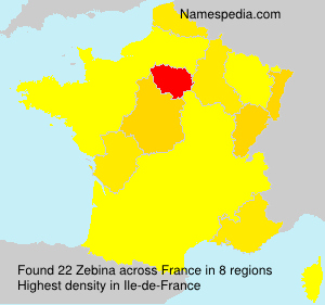 Surname Zebina in France
