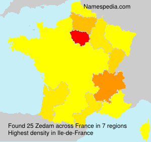 Surname Zedam in France