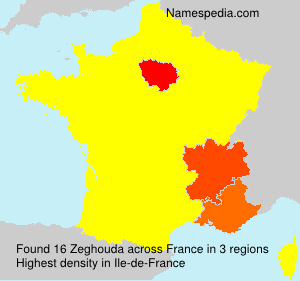 Surname Zeghouda in France