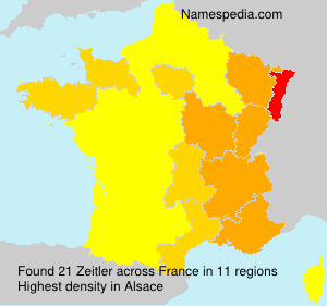 Surname Zeitler in France