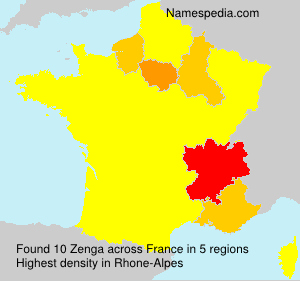 Surname Zenga in France