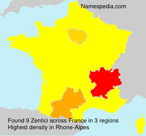 Surname Zentici in France