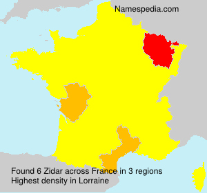 Surname Zidar in France