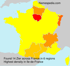 Surname Zier in France