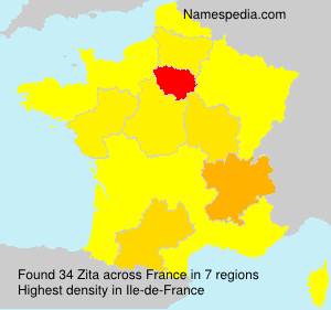 Surname Zita in France