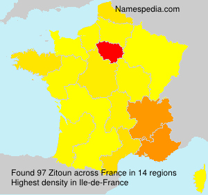 Surname Zitoun in France