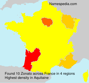 Surname Zonato in France