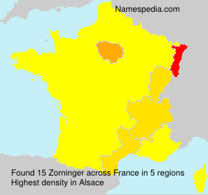Surname Zorninger in France