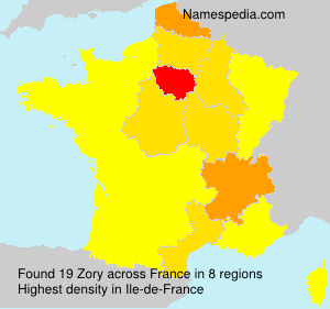 Surname Zory in France