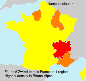 Surname Zwikel in France